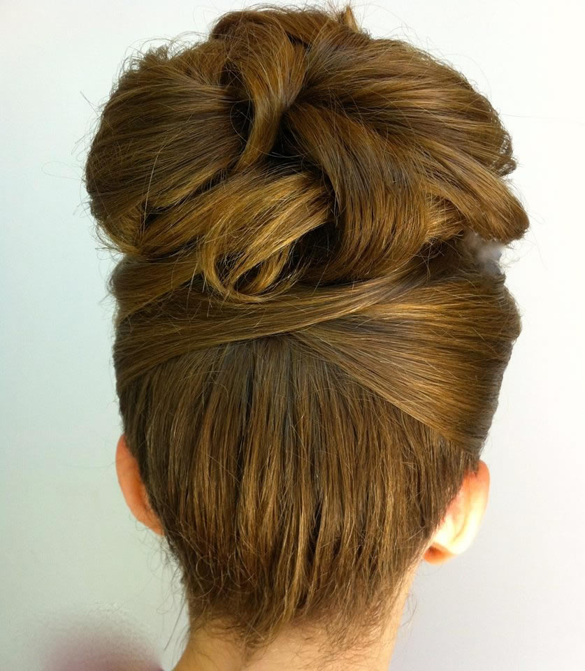Client hair up 1