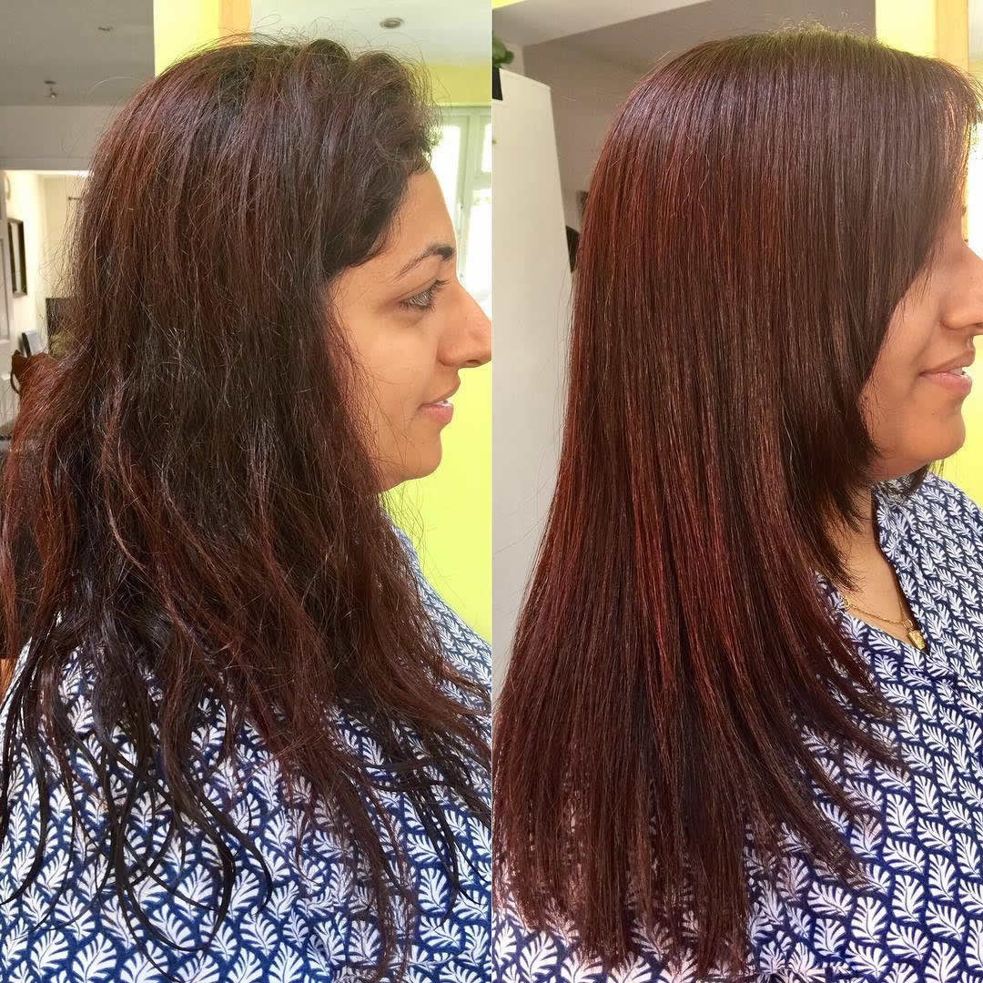 before and after cut
