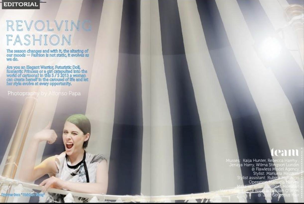 Revolving Fashion Photoshoot for 2be Magazine 3